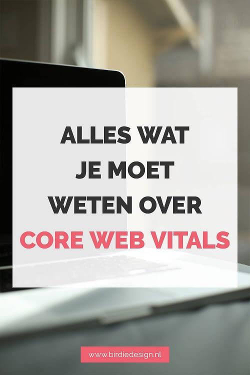 Alles wat je moet weten over core web vitals Pinterest afbeelding