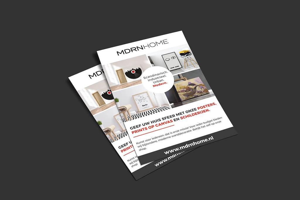 MDRN HOME - Flyer ontwerp