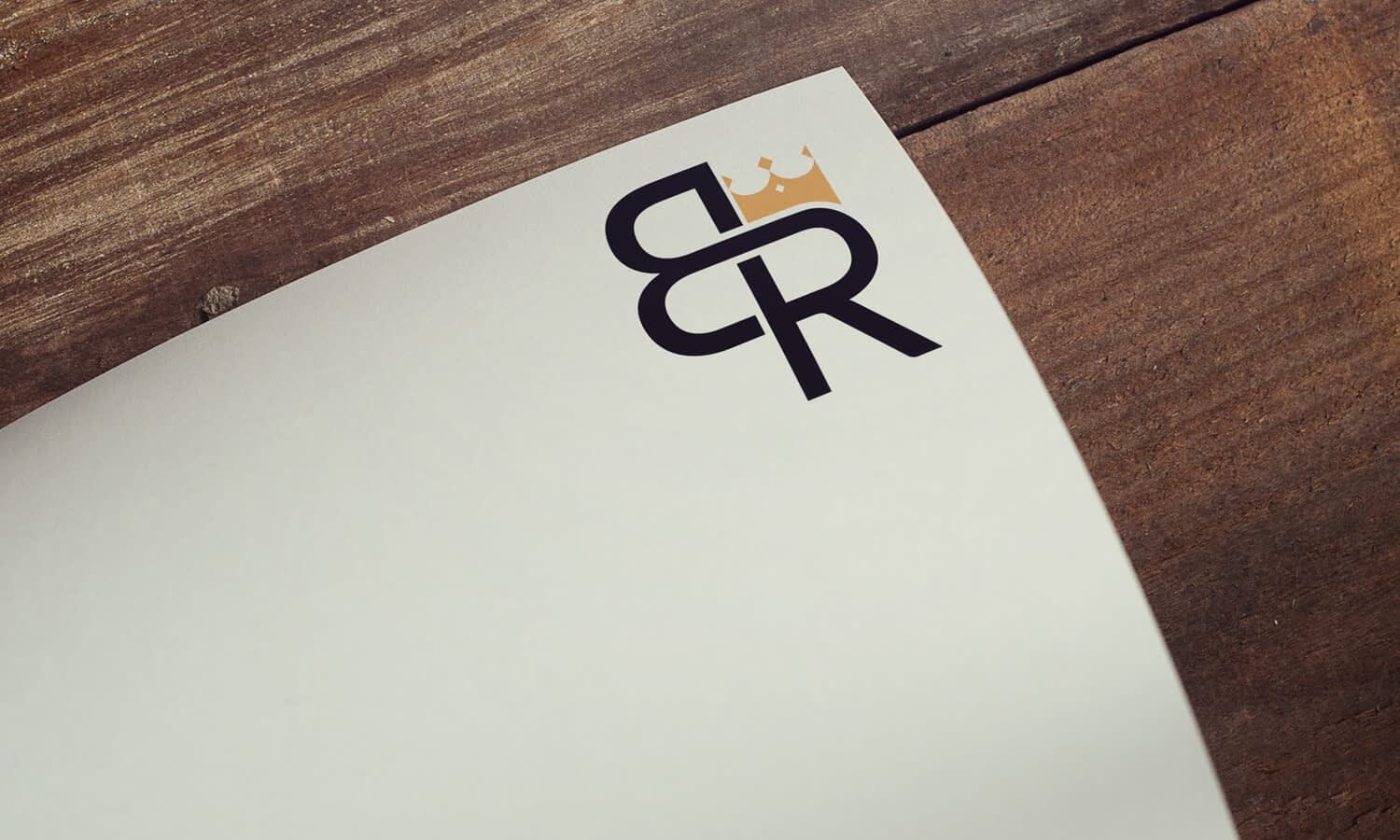 BR monogram logo with crown