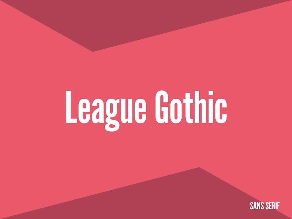 league gothic sans serif lettertype