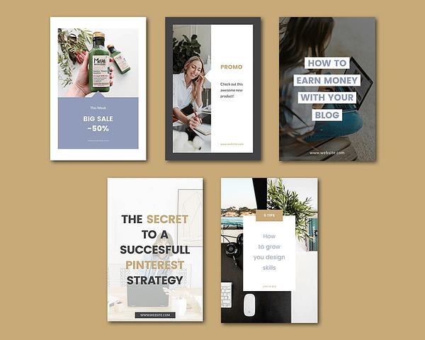pinterest templates - branding kit van logo en huisstijl