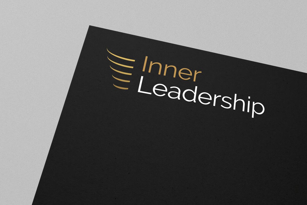 Inner Leadership logo design on a black background