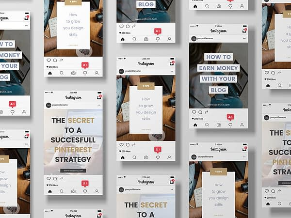 instagram templates - modern logo en branding kit
