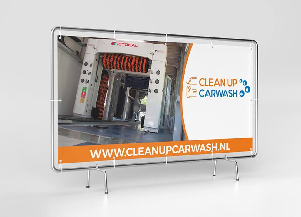 Clean Up Carwash - Zeildoek design