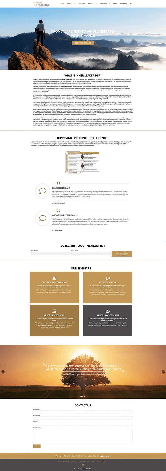 inner leadership wordpress website