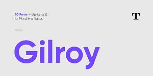 gilroy minimalistisch logo ontwerp lettertype