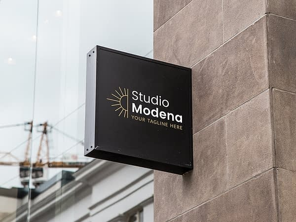 modern logo op donkere achtergrond - huisstijl kopen