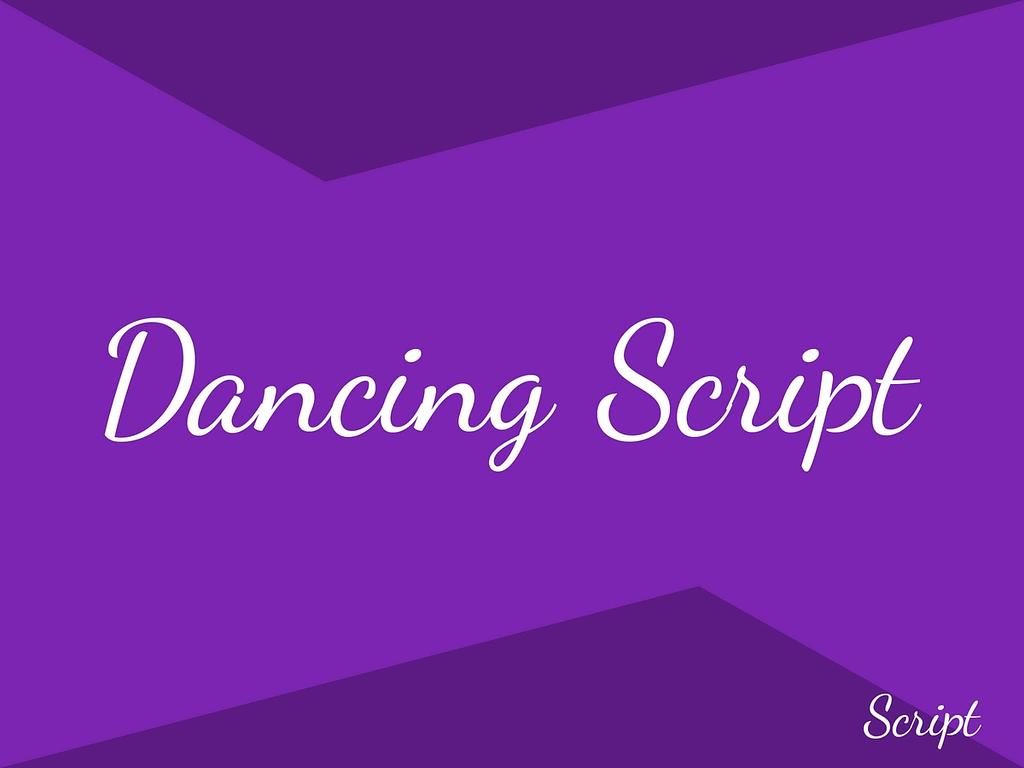 dancing script gratis lettertypes