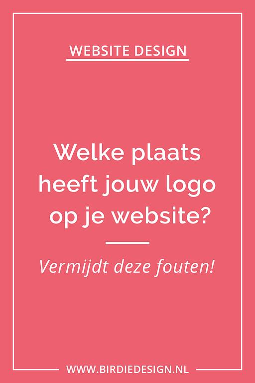 Welke plaats heeft jouw logo op je website Pinterest afbeelding