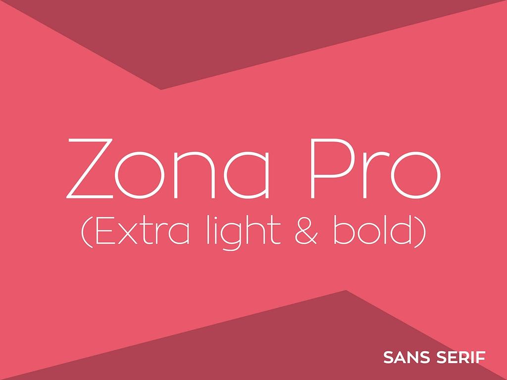 zona pro lettertype