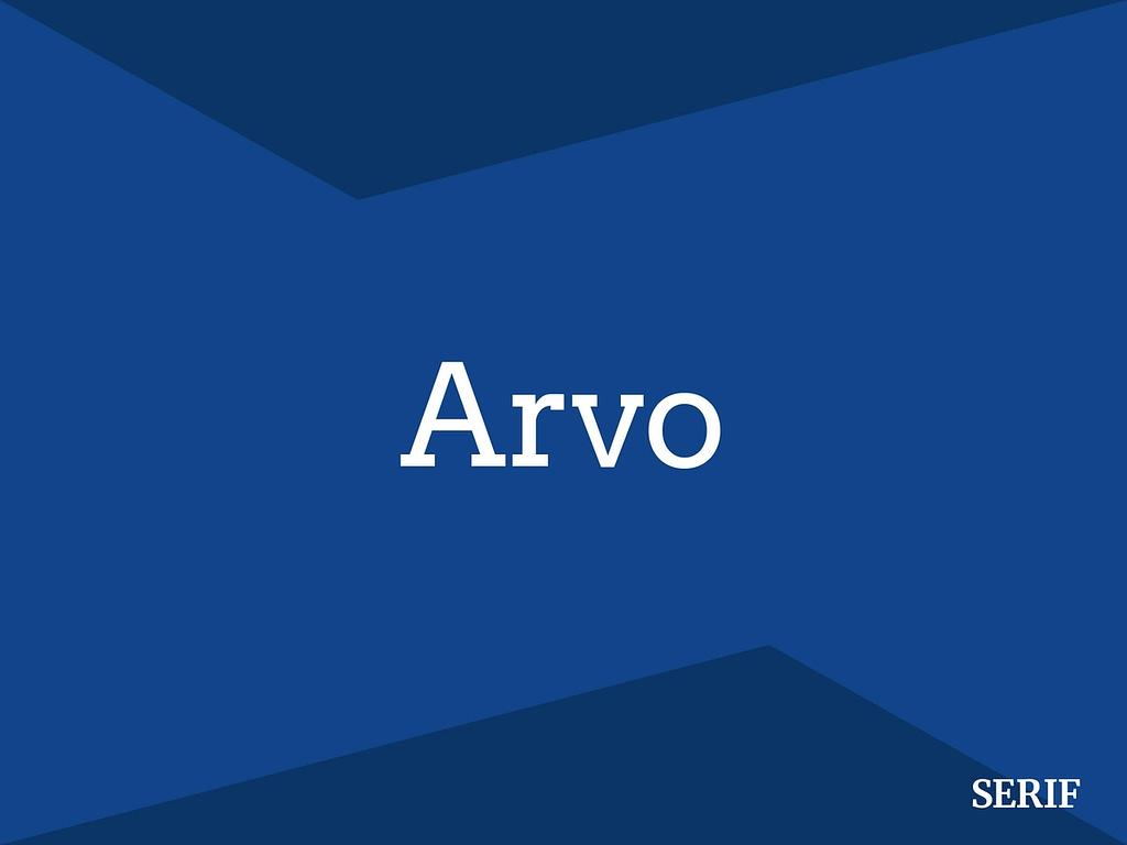 Arvo serif lettertype
