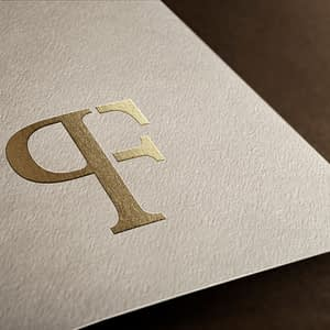 PF monogram goud