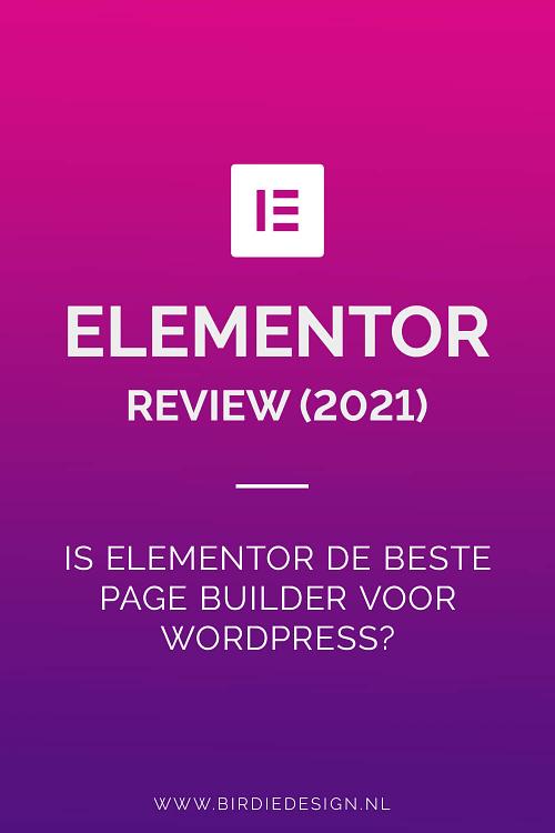elementor review 2021 pinterest afbeelding