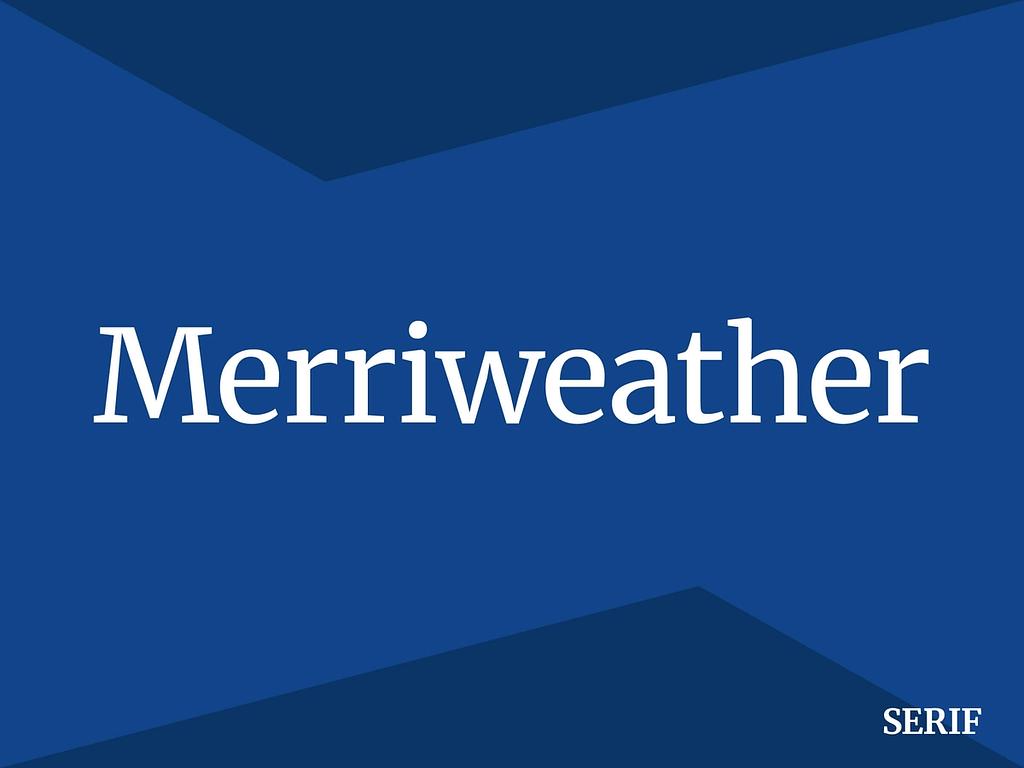 Merriweather gratis lettertypes