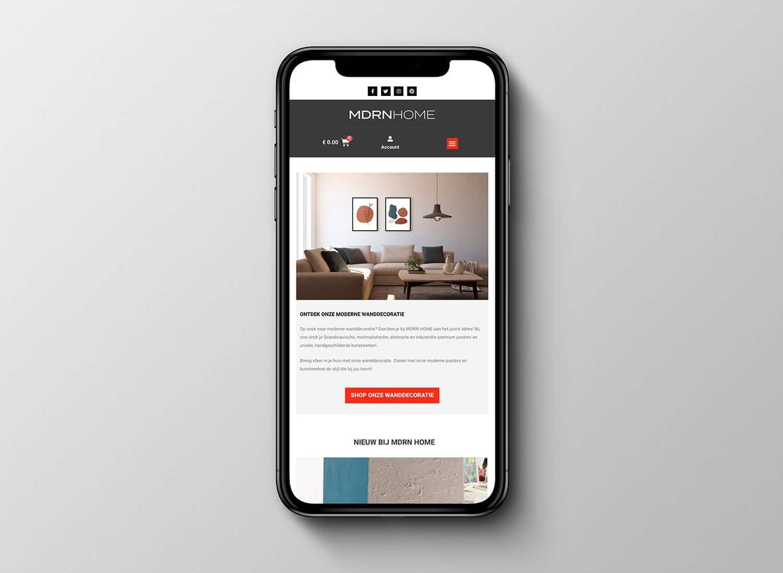 nieuwe mdrn home website mobiel