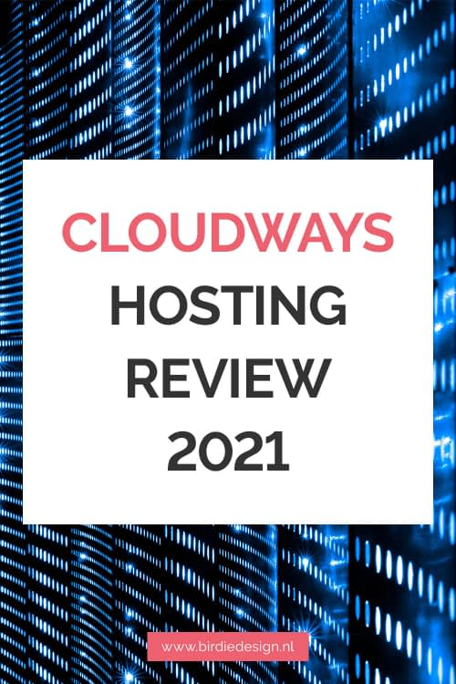 cloudways hosting review pinterest afbeelding