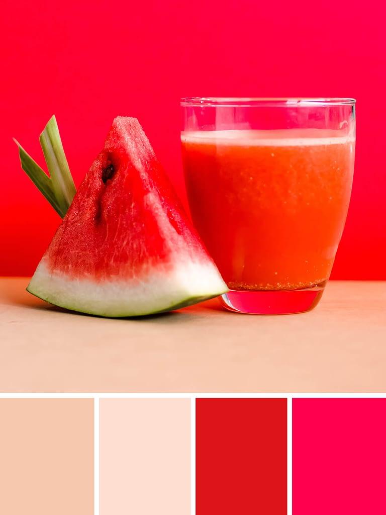 kleurenschema's: watermeloen